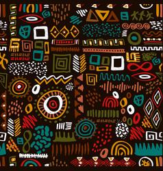 Africa art ethnic seamless pattern tribal print vector