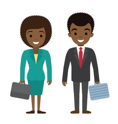 afro american businessman and businesswoman vector image