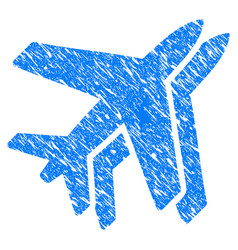 Airlines grunge icon vector