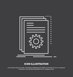 App build developer program script icon line vector