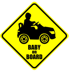 Baby on board label sticker vector