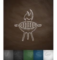 barbecue icon Hand drawn vector image