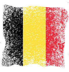 belgian national day flag of belgium grunge vector image