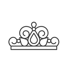 Beuauty pageant or princess crown outline icon vector