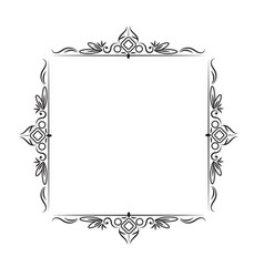 Black classic vintage square frame vector