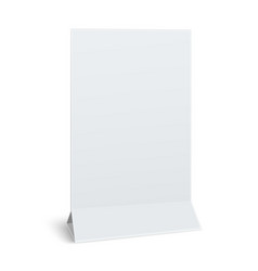 blank paper table card isolated on white vector image