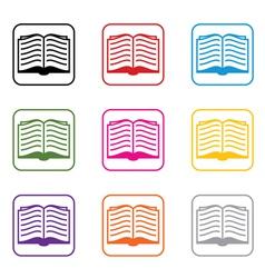 book symbols vector image