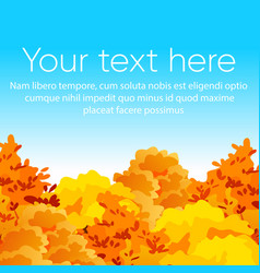 bright and colorful autumn vector image