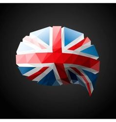 British Flag speech bubble background vector image
