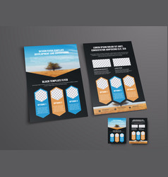Brochure template with a place for photos in the vector