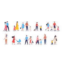 Bundle walking families vector