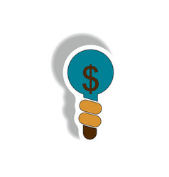 Business idea in paper sticker vector