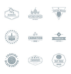 Cacao logo set simple style vector