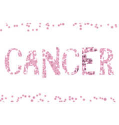 cancer word cells vector image