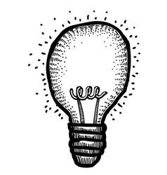 Cartoon image of bulb icon lamp symbol vector