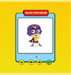 Cartoon superhero game asset theme hero art vector