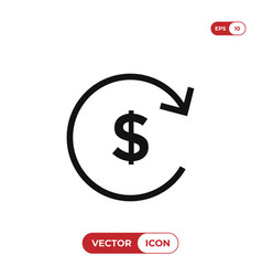 cash and reload icon vector image