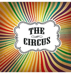 circus rays retro card vector image