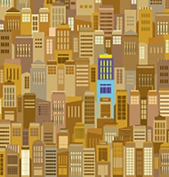 Cityscape With Outstanding Building vector image