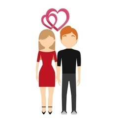 couple in love valentine day design vector image