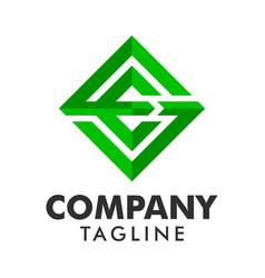 diamond square creative logo concept vector image