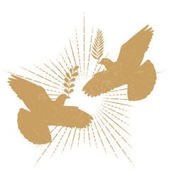 dove peace silhouette vector image