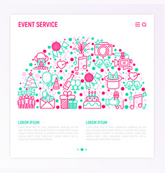 event services concept in half circle vector image
