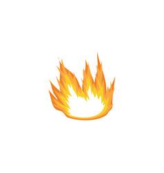 flat cartoon fire blown sideways wind vector image