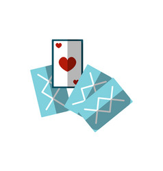 Flat playing cards icon of vector