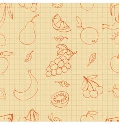 Fruit doodles vector