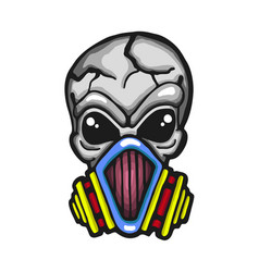 Gas mask skull vector
