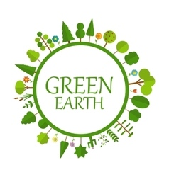 Green Earth Concept Natural vector image