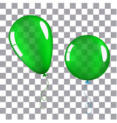 Green helium balloon isolated vector