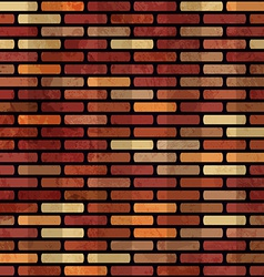 grunge red brick wall seamless vector image