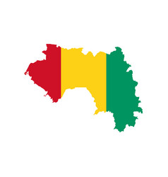 guinea flag and map vector image