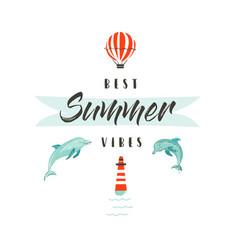 Handdrawn abstract summer time fun vector