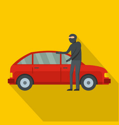 hijacker icon flat style vector image