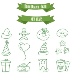Icon of holiday new year element vector image