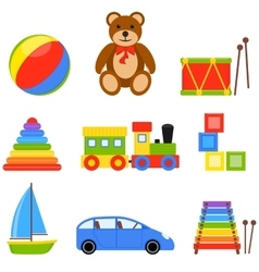 Icon Set Toys vector image