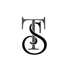 initial letters st monogram logo vector image