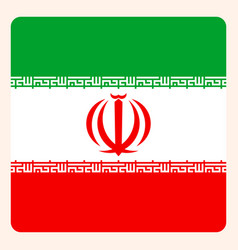iran square flag button social media vector image