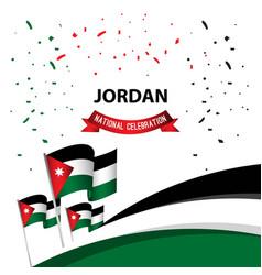 Jordan national celebration poster template design vector