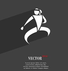 Karate kick symbol Flat modern web design with vector image