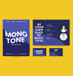Leaflet posters and business card template vector