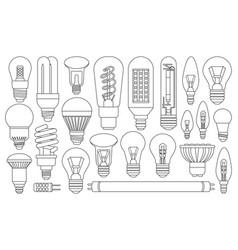Light bulb line on white vector
