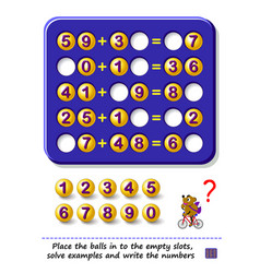 Logic puzzle game for children and adults place vector
