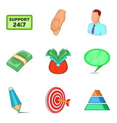 Loot icons set cartoon style vector