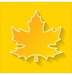 maple leaf autumn poster or banner vector image