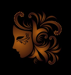 mask with ornament vector image