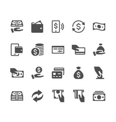 Money glyph icons vector